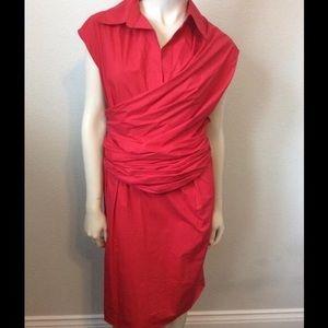 Red Ferragamo dress